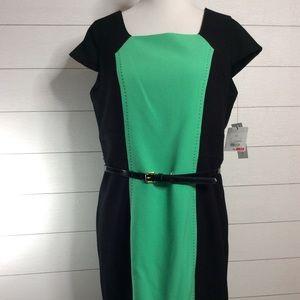 Liz Claiborne Green & Black Dress